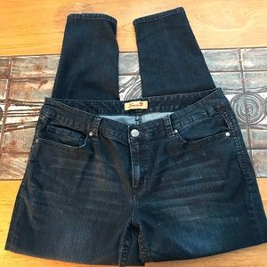 Seven7 Luxe Sz 18  Mid Rise Skinny Jeans 033